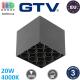 Светодиодный LED светильник GTV, 20W (EMC+), 4000K, накладной, квадратный, алюминиевый, чёрный, Ra≥80, ARTEMIDA. ЕВРОПА! Гарантия - 3 года