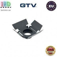 Заглушка/наконечник GTV, для трековых светильников LIMA и GROSSO, квадратная, чёрная. ЕВРОПА!