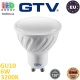 Светодиодная LED лампа GTV, 6W, GU10, MR16, 3200K – тёплое свечение, Ra≥80. ЕВРОПА! Гарантия - 2 года