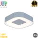 Светодиодный LED светильник, настенно-потолочный, 16W, 3000K, IP54, фасадный, квадратный, алюминиевый, серебристый, Ra≥80. Гарантия - 5 лет
