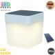 Светодиодный LED светильник, 1W, 3000K, IP44, на солнечной батарее, переносной, три уровня яркости, пластиковый, белый, Ra≥80, 120x120x133мм. Гарантия - 2 года