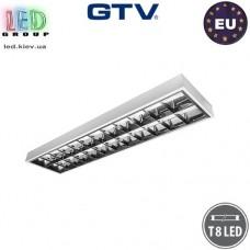 Корпус светильника для ламп Т8, GTV, накладной, стальной, белый, 2х1500мм, RASTRO. ЕВРОПА!