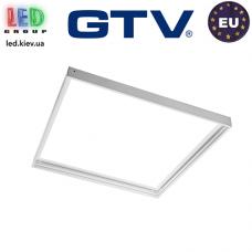 Переходная/монтажная алюминиевая рамка GTV для светодиодных панелей 60x60см, алюминиевая, белая, KING. ЕВРОПА!