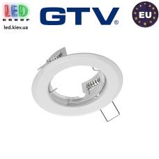Потолочный светильник/корпус, GTV, 1xGU10/GU5.3, встраиваемый, стальной, круглый, белый, PARMA II. ЕВРОПА!
