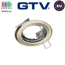 Потолочный светильник/корпус, GTV, 1xGU10/GU5.3, встраиваемый, стальной, круглый, цвета старое золото, PARMA II. ЕВРОПА!