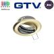 Потолочный светильник/корпус, GTV, 1xGU10/GU5.3, встраиваемый, регулируемый, стальной, круглый, цвета старое золото, PARMA II. ЕВРОПА!