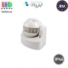 Датчик движения с регулировкой чувствительности сумерек, master LED, 1200W, IP44, 180°, поворотный, белый. ЕВРОПА!!!