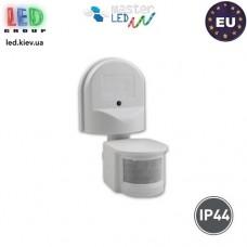 Датчик движения с регулировкой чувствительности сумерек, master LED, 1200W, IP44, 180°, регулируемый, белый. ЕВРОПА!!!