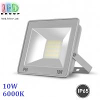 Светодиодный LED прожектор 10W, 6000K, IP65, алюминиевый, накладной