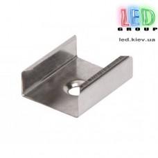 Клипса монтажная для алюминиевого профиля ЛП-12 и ЛПC-17, металлическая.