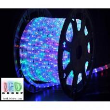 Светодиодная лента 220V, 2835, 48 led/m, 4W, IP67, RGB-Rainbow, Standart. Гарантия - 12 месяцев.