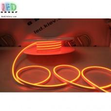Cветодиодный гибкий неон мини 12V, LED NEON MINI - 13х5мм, цвет свечения - оранжевый