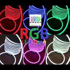 Светодиодный гибкий неон 220V, LED NEON - 22x11мм, цвет свечения - RGB