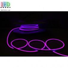Cветодиодный гибкий неон мини 12V, LED NEON MINI - 13х5мм, цвет свечения - фиолетовый