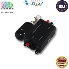 Диммер master LED, с пультом, 3 кнопки, 12V-24V, 8A, 96-192W, чёрный. Европа!