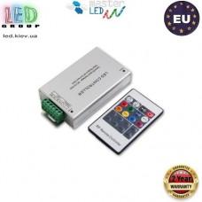 Контроллер/диммер master LED для светодиодных лент 12-24V RGB, 12А. C пультом RF, 3 канала по 4A. Европа!