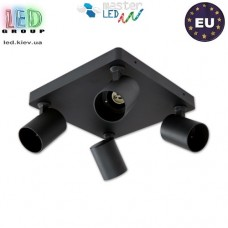 Потолочный светильник/корпус master LED, 4хGU10, накладной, поворотный, круглый, алюминий, матовый чёрный, Fredo. ЕВРОПА!