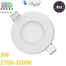 Потолочный LED светильник master LED 3W, 2700-3200K, Proma, круглый, белый. ЕВРОПА!