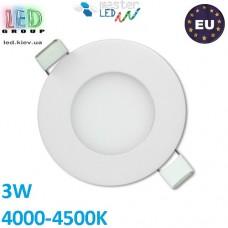 Потолочный LED светильник master LED 3W, 4000-4500K, Proma, круглый, белый. ЕВРОПА!