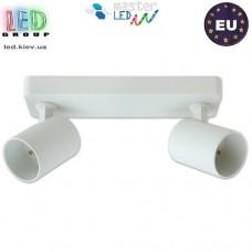 Потолочный светильник/корпус, master LED, накладной, поворотный, круглый, алюминий, матовый белый, 2хGU10, Fredo. ЕВРОПА!