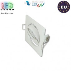 Светильник/корпус, master LED, потолочный, встраиваемый, сталь, квадратный, белый, 1хGU10. Польша!