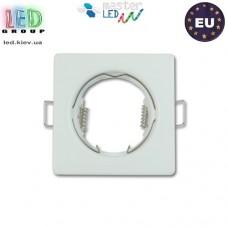 Потолочный светильник/корпус, master LED, встраиваемый, сталь, квадратный, белый, 1хGU10. Польша!