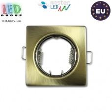 Потолочный светильник/корпус, master LED, встраиваемый, сталь, квадратный, латунь, 1хGU10. Польша!