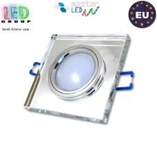 Светильник/корпус master LED, потолочный, торцевая подсветка - 3W, 4500K, встраиваемый, стекло, квадратный, прозрачный. ЕВРОПА!