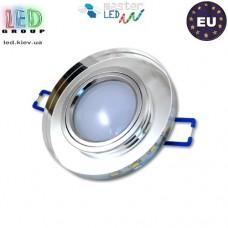Светильник/корпус master LED, потолочный, торцевая подсветка - 3W, 4500K, встраиваемый, стекло, круглый, прозрачный. ЕВРОПА!