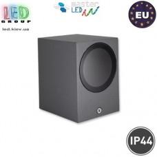 Светильник/корпус master LED, 1хGU10, фасадный, алюминий+стекло, квадратный, серый, Lida. Польша!
