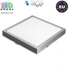 Потолочный светильник/корпус, master LED, сталь + пластик, квадратный, белый, 2хE27, Solen. ЕВРОПА!