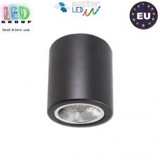 Потолочный светильник/корпус, master LED, накладной, Ø90x110мм, 1хE27, сталь, чёрный. ЕВРОПА!