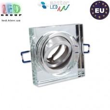 Светильник/корпус master LED, потолочный, встраиваемый, алюминий + стекло, квадратный, белый, Demre. Польша!