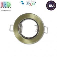 Потолочный светильник/корпус, master LED, потолочный, встраиваемый, сталь, круглый, латунь, 1хGU10. Польша!