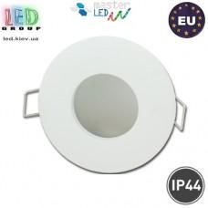 Светильник/корпус master LED, IP44, потолочный, встраиваемый, алюминий, круглый, белый, 1хGU10. Польша!