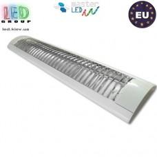 Корпус светильника для ламп Т8, master LED, 2х600мм, растровый, IP20, метал + PS, накладной, белый. Польша!