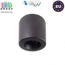 Потолочный светильник/корпус, master LED, 1хGU10, накладной, сталь, круглый, чёрный. Польша!
