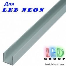 Монтажный алюминиевый профиль для LED NEON - 17x9мм, 220V и 12V. 1 метр