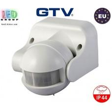 Датчик движения с регулировкой чувствительности сумерек GTV, 1200W, IP44, 180, CR-1, белый. ЕВРОПА!!! Гарантия 2 года!
