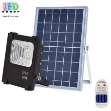 Светодиодный LED прожектор, на солнечной батарее с пультом, IP66 - 10W