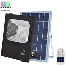 Светодиодный LED прожектор, на солнечной батарее с пультом, IP66 - 50W