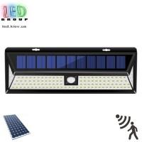 Светодиодный LED светильник, на солнечной батарее с датчиком движения - 12W. 3 режима