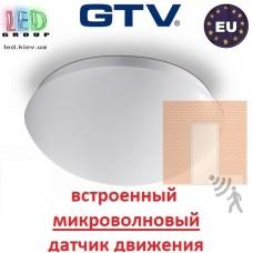 Светильник (плафон) GTV с микроволновым датчиком движения, круглый, 1xE27, PLCZMI. ЕВРОПА!