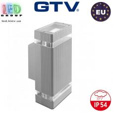 Светильник/корпус GTV, фасадный, уличный, IP54, двунаправленный, накладной, серый, 2xGU10, NESSA. ЕВРОПА!