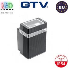 Светильник/корпус GTV, фасадный, уличный, IP54, однонаправленный, накладной, чёрный, 1xGU10, NESSA. Польша!
