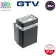 Светильник/корпус GTV, фасадный, уличный, IP54, однонаправленный, накладной, чёрный, NESSA. ПОЛЬША!!!