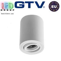 Светильник/корпус GTV, потолочный, регулируемый, алюминий, IP20, круглый, белый, SENSA. ПОЛЬША!!!