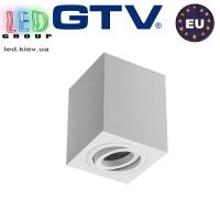 Светильник/корпус GTV, потолочный, регулируемый, алюминий, IP20, квадратный, белый, SENSA. ПОЛЬША!!!