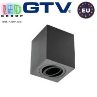 Светильник/корпус GTV, потолочный, регулируемый, алюминий, IP20, квадратный, чёрный, SENSA. ПОЛЬША!!!