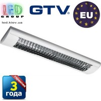 Корпус GTV для ламп Т8, 2х600мм, растровый, IP20, накладной, PARI-218r. ПОЛЬША!!! Гарантия - 3 года